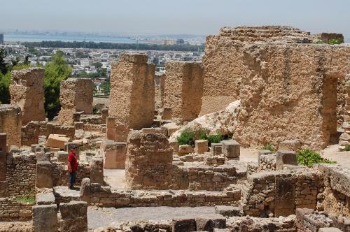 Ruin i Kartago der påstås at være Hannibals hjem.