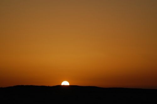 Solnedgang i Sahara.