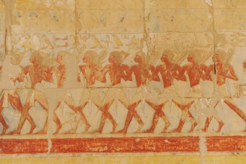 Hatshepsuts dødetempel, kunst.