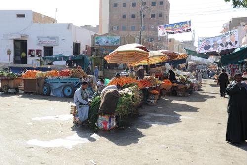 Marked i Edfu.