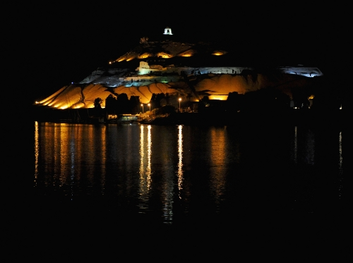 Aswan by night.