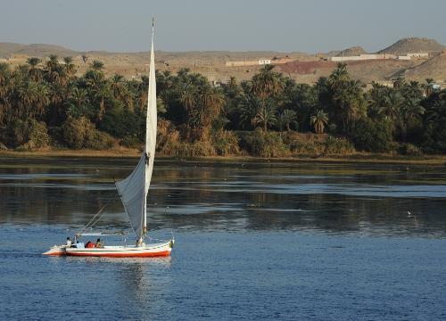 Sejlads på Nilen.