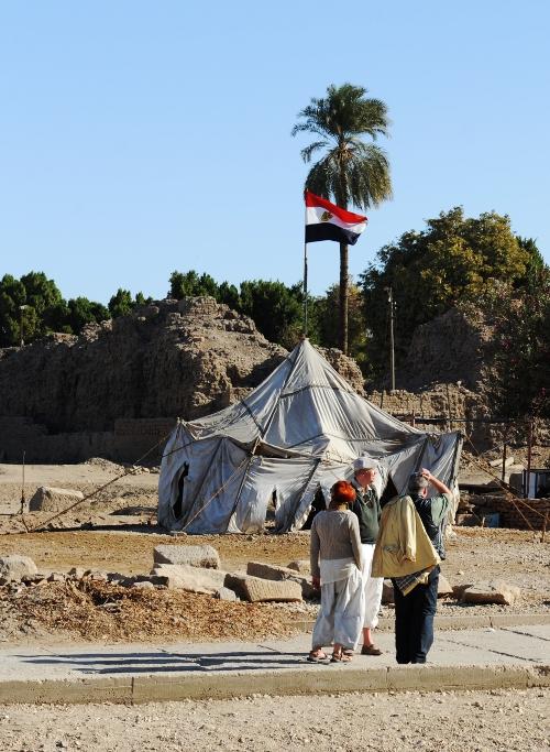 Telt ved Karnaktemplet.