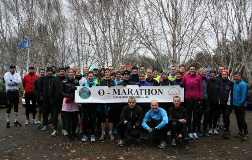 Startfoto. Ø maraton 25. november. Foto: Carsten Jensen