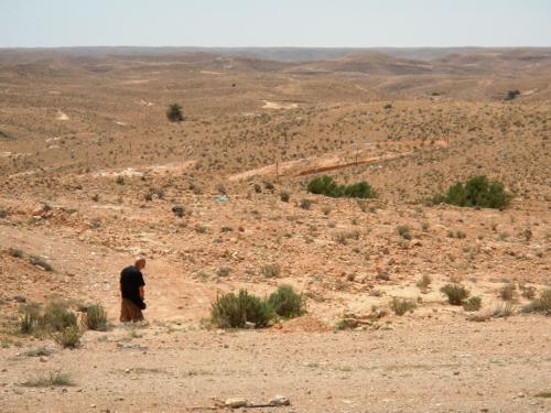 Pause på bustur ind i Sahara.