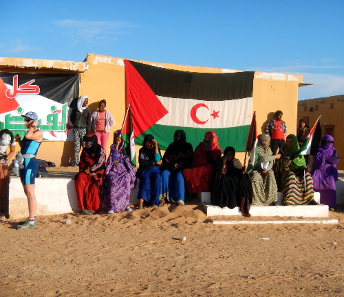 Support i flygtningelejren Laayoune.