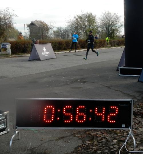 Andreas satte PR på 10 km i tiden 55:58.