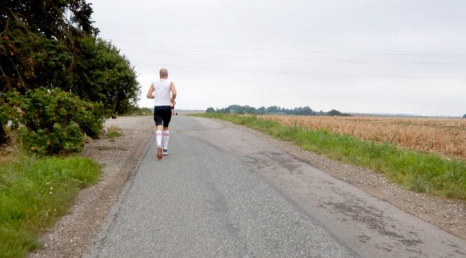 Løber på vej