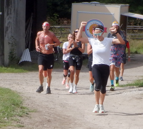 En flok løbere
