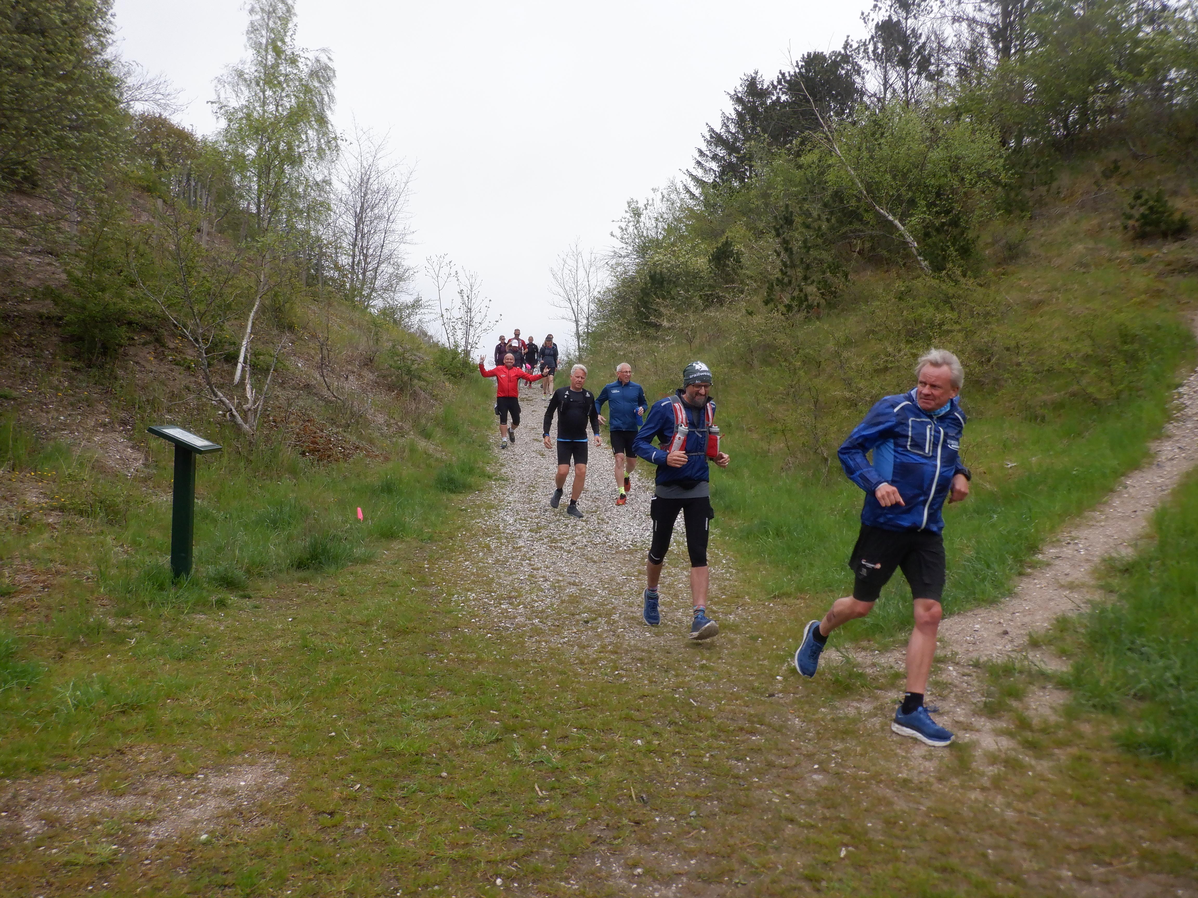 Løbere der løber ned ad bakke